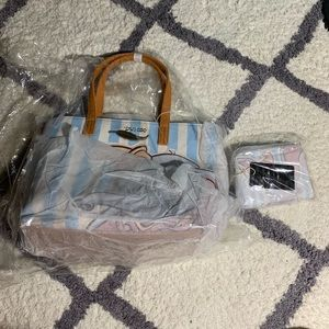 NWT Loungefly dumbo striped tote AND wallet set